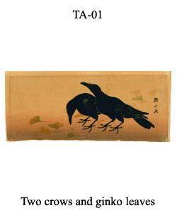 1-sozan-thumb-TA-01-Two-crows-and-ginko-leaves