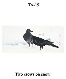 19-sozan-thumb-TA-19-Two-crows-on-snow