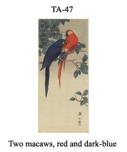 47-sozan-thumb-TA-47-Two-macaws,-red-and-dark-blue