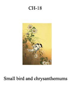 CH-18 Small Bird And Chrysanthemums