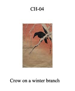 CH-4 Crow On Winter Branch